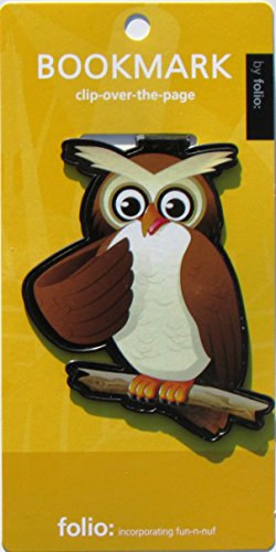 Owl Bookmarks (Clip-over-the-page) Set of 2 - Assorted colors