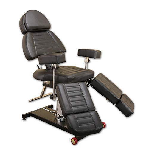 Tattoo Chair, Multifunctional Adjustable Hydraulic Lift Chair Split Leg Design Beauty Salon Massage Therapy Chair