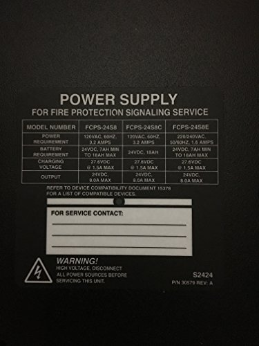 Notifier FCPS-24S8 - Power Supply for Fire Protection Signal Devices