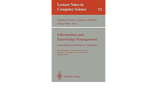 Information and Knowledge Management: Expanding the
