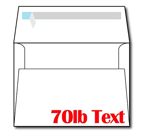 Heavyweight A7 White Self Seal Invitation Envelopes - 100 Envelopes