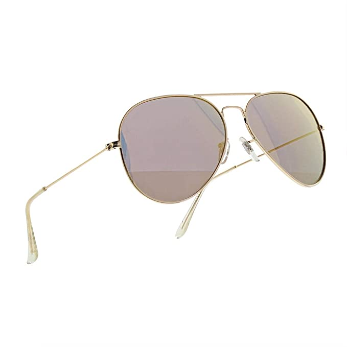 NWOUIIAY Gafas de Sol para Aviador Metal Polarizado 100% UV400 de Marco de  Cuproníquel ( c601e97d20b9