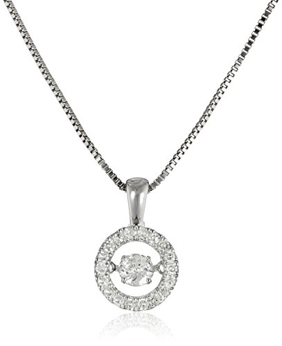 Dancing Diamond Circle Pendant Necklace (1/3cttw, I-J Color, I2-I3 Clarity), 18″ + 2″ extender