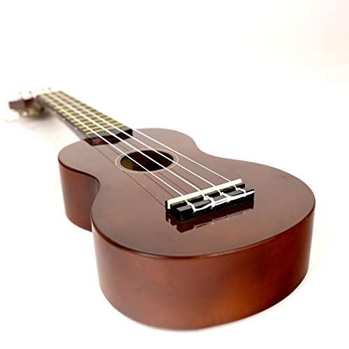 Soprano Ukulele For Beginners Four String Ukulele Start Pack W/ Gig Bag Tuner Picks Polish Cloth Extra Strings (Brown) - Image 5