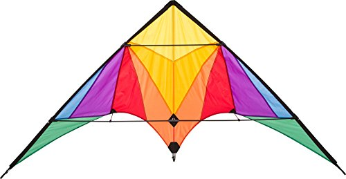 Hq Kites Eco Line Sport Kite - Trigger Rainbow- 35 Inch Double - Line Beginner Stunt Kite - Active Outdoor Fun for Ages 14 Years and Older (Best Beginner Stunt Kite)
