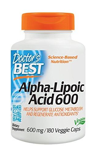Doctors Best Alpha-Liponsäure, 600 mg, 1er Pack (1 x 180 Stück)