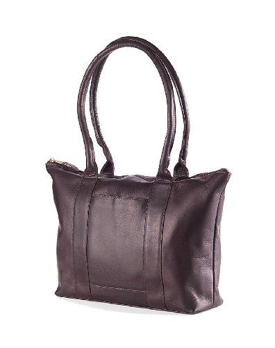 Clava Vachetta Leather Zip Tote (Vachetta Cafe) by Clava