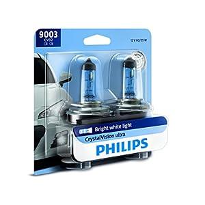 Philips 9003CVB2 CrystalVision Ultra Upgrade Headlight Bulb, 2 Pack