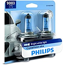 Philips 9003CVB2  CrystalVision Ultra Upgrade Headlight Bulb, 2 Pack