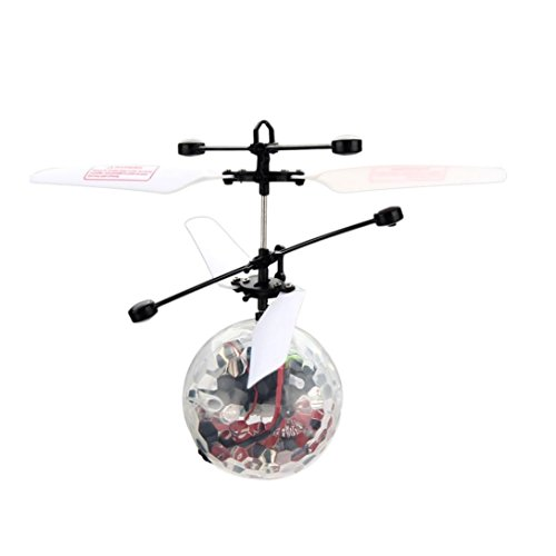 Perman Funny RC Flying Ball Infrared Induction Mini Aircraft Flashing Light Remote Toys for - Remote Speed Boat 4 Ch