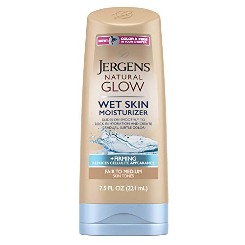 Jergens Natural Glow +Firming Body Moisturizer, Fair to Medium Skin Tone, 7.5 Ounce Wet Skin Lotion, featuring Collagen and Elastin, Helps to Visibly Reduce Cellulite (Best Body Wash For Fair Skin)