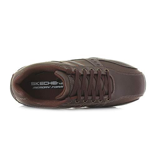 Memoria Changer De Para Eu Y life Marrón Zapatos Color Espuma Cordones Talla 42 Informales 5 Con Hombre Piel Marter Skechers wPFAA