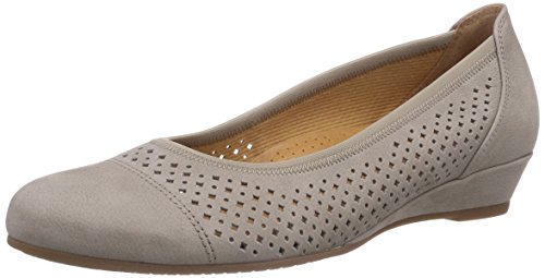 Gabor Shoes 22.695.33 Damen Durchgängies Plateau Pumps Grau (visone)