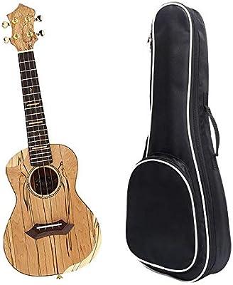 Ukelele 23 pulgadas de madera cuerpo de carbono Concierto de Cuerdas Ukulele Uke Hawaii Niños Pequeños Guitarra Con Estuche for niños adultos principiantes regalos estudiantes Instrumento Musical Conc: Amazon.es: Hogar