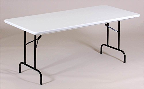 - Correll R3060-23 R Series, Blow Molded Plastic Commercial Duty Folding Table, Rectangular, 30