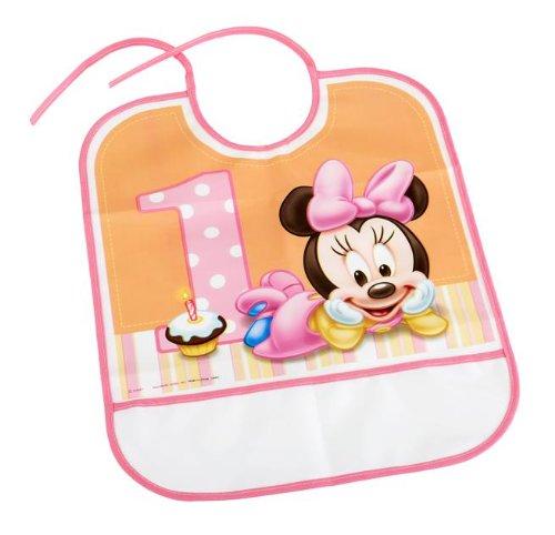 - Minnies 1st Birthday Bib Party Accessory