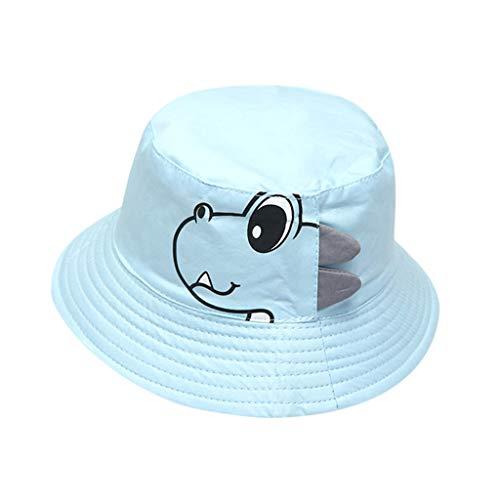 ❤️ Mealeaf ❤️ Baby Boy Hats Soft Cotton Sunhat Eaves Baseball Cap Sun Hat Beret(Light Blue,)