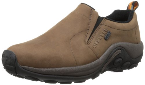 Merrell Men's Jungle Moc Nubuck Waterproof Slip-On Shoe,Brown,10 M US