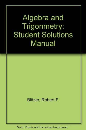 blitzer precalculus 3rd edition pdf