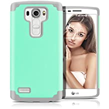 LG G4 Case, MagicMobile (Mint Green / Gray) Dual Layer Color - Slim Hybrid Shockproof Silicone Protective Case For LG G4 - Scratch & Impact Resistant, Anti-Dust Protection Rugged Tough Cover