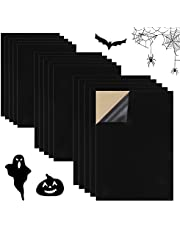 """Sntieecr 15PCS Black Velvet Sticky, Back Adhesive Sheets Self-Adhesive Soft Velvet Fabric for DIY Halloween Craft and Jewelry Box Drawer Liner (A4 Size, 8.3"""" x 11.8"""")"""