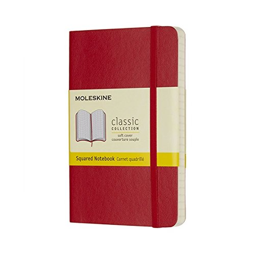 Moleskine Pocket Squared Soft Cover Classic Notebook,...