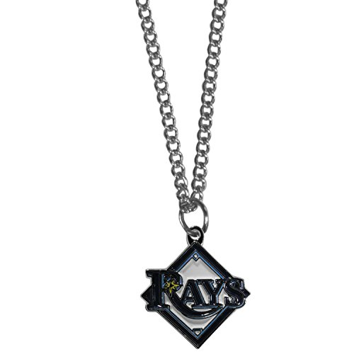 Siskiyou MLB Tampa Bay Rays Women's Chain Necklace with Small Pendant, 20
