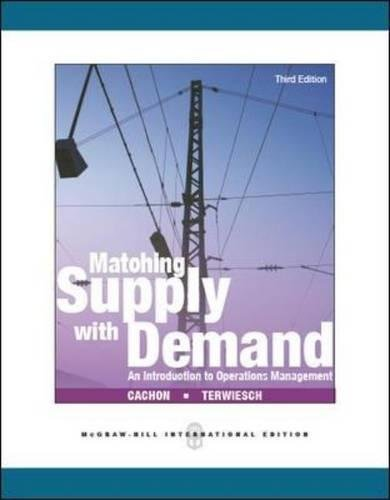 Matching Supply with Demand 3/e