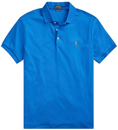 Big and Tall Soft-Touch Pima Cotton Polo Shirt Classic-Fit (3XT, New Iris Blue)