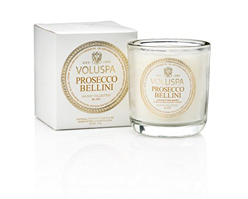 Voluspa Prosecco Bellini Classic Maison Candle, Boxed Votive, 3 Ounce ()