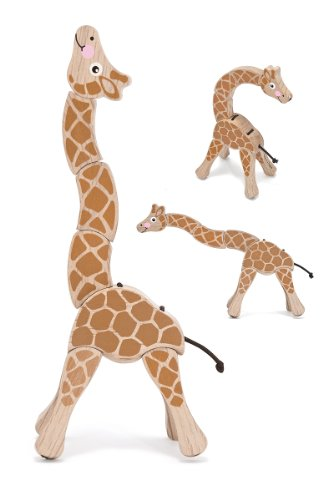 Melissa & Doug Giraffe Wooden Grasping Toy for Baby