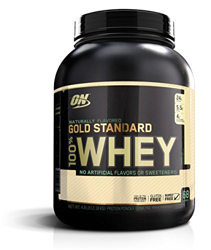 Optimum Nutrition Gold Standard 100% Whey Protein Powder, Naturally Flavored, 4.8 Pound (Natural All Protein Whey Powder)