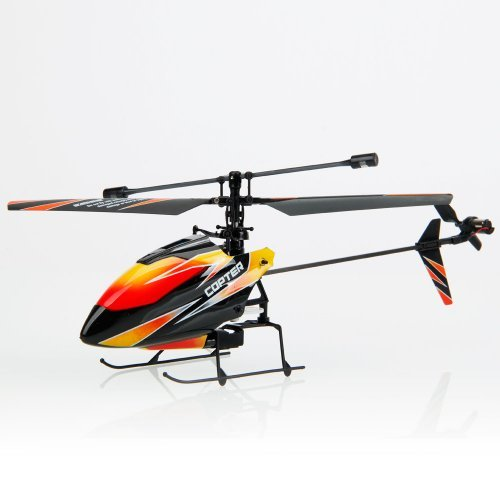 V911 Replacement Single Blade R/C Helicopter 4 CH 2.4Ghz Black & Orange BNF