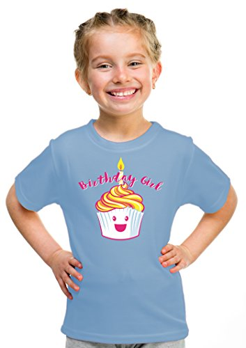 Birthday Girl Happy Cupcake | Cute Little Girls' B-day Party Top Youth T-shirt