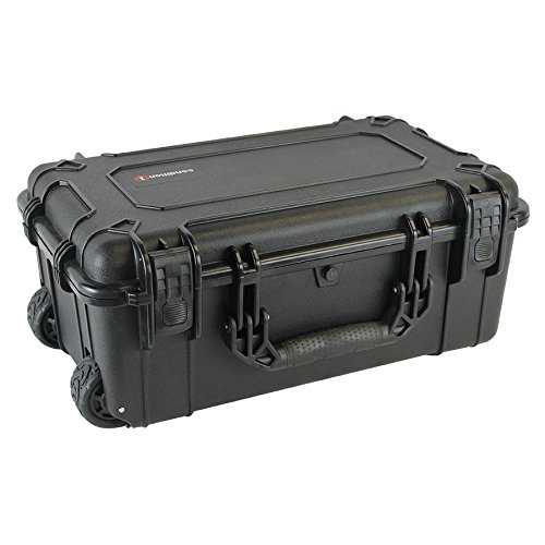 Condition 1 22'' LG #300 Black Airtight/Watertight Rolling Travel Hard Case with DIY Customizable Foam