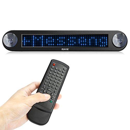 Scrolling Led Sign (Rupse Dc 12v Remote Car Shop Led Sign Programmable Showcase Message Sign Scrolling Display Lighting Board (Blue))