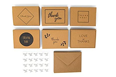 Amazon Com 120 Thank You Cards Bulk Notes For Wedding And