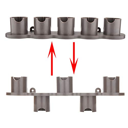 (Ninthseason Wall Mount Holder for Dyson V10 V8 V7 Vacuum Cleaner Brush Attachments (ONLY Fit for Non-Motorized Attachment Pieces))