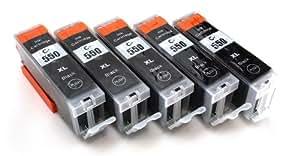 5x Compatible tinta cartuchos reemplazo for CANON PGI-550BK XL negro con CANON Pixma iP7250 MG5450 MG6350 MX725 MX925