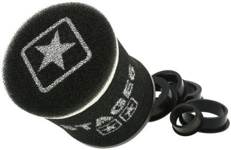 Racingluftfilter Stage6 Double Layer Klein Airbox Schwarz 28mm 35mm 42mm 45mm 49mm 55mm Anschluss Auto