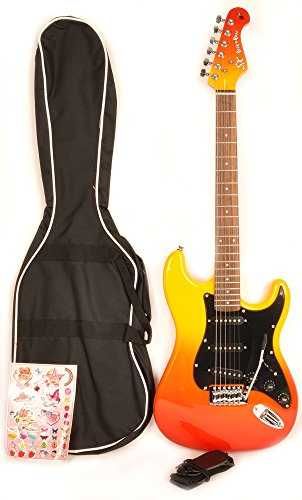 SX GE Rose 1K FLB Electric Guitar 7/8 Size with Bag and Strap