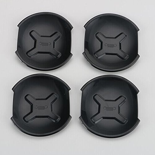 4pcs/set ABS Car Exterior Door Handle Bowl Cover Trim Frame Decor for Jeep Renegade 2015 2016 (Black) ()