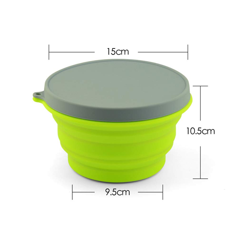 Portable Picnic Box, Foldable Round Retractable Drop-Resistant Crash-Proof Lunch Box, Student, Outdoor Picnic, Barbecue, Etc by LTLSF