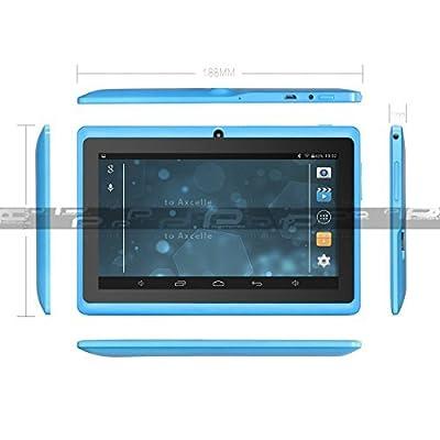 ProntoTec Axius Series Q9 7 Inch Quad Core Android 4.4 KitKat Tablet PC, 800 x 480 Pixels Cortex A8 Processor, 4GB ROM, Dual Camera, G-Sensor, Google Play Pre-loaded -Blue (2015 New Model)
