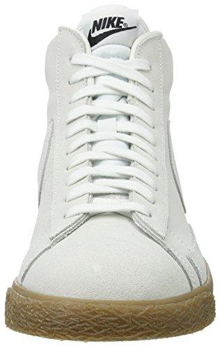 Nike Blazer Mid, Sneaker a Collo Alto Uomo Bianco (Off White/Off White-gum Lt Brown)