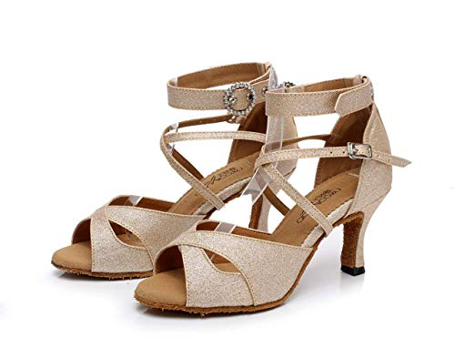 zapatos Willsego Altos tango Para Zapatos Eu41 Tacones Goldheeled7 samba Té Sandalias Salsa 5cm uk7 Latina Baile Jazz Mujer 5cm Our42 Moderno De Blackheeled7 ZrPwqxZ