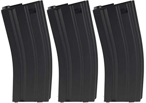 SportPro 60 Round Metal Low Capacity Magazine for AEG M4 M16 3 Pack Airsoft - Black