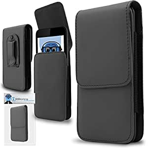 Grey PREMIUM PU Leather Vertical Executive Side Pouch Case Cover Holster with Belt Loop Clip and Magnetic Closure for LG Volt LS740