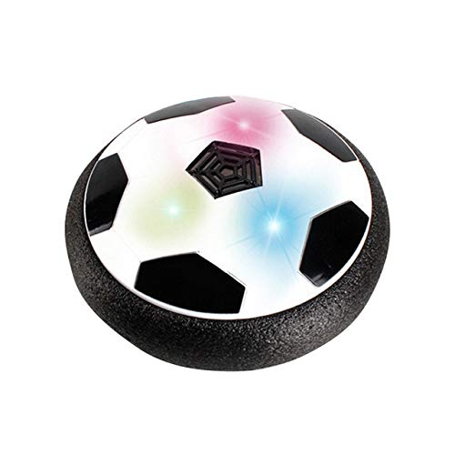 XuBa LED Light Music Flashing Soccer Ball Toys Colorful Air Power Soccer Disc Indoor Hovering Football Game Gift for Kid Chidren 2 ()