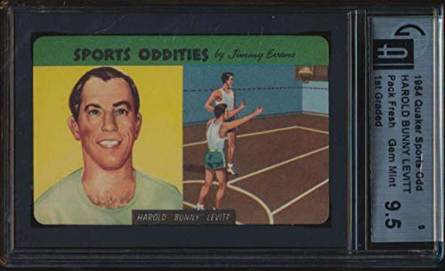 (1954 Quaker Sports Oddities #5 Harold Bunny Levitt GAI 9.5 Gem Mint)